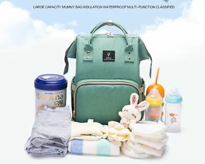 Baby Diaper Bag With USB Interface Large Capacity Nappy Bag Mummy Backpack