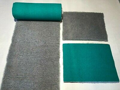 Grey With Green Backing Vet Bed Dog Puppy Whelping Fleece 6 Sizes