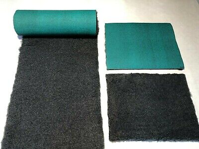 Charcoal With Green Backing Vet Bedding Dog Puppy Whelping Fleece 10 Sizes