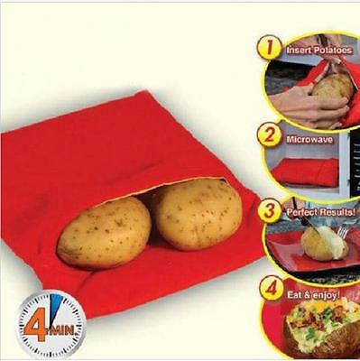 Red Washable Cooker Bag Baked Potato Microwave Cooking Potatoes Gadgets Tool Kit