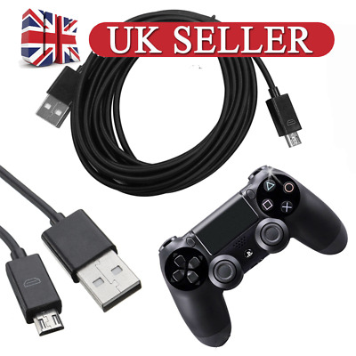 3m Micro Usb Charger Cable For PS4 Dualshock 4 Wireless Controller Play & Charge