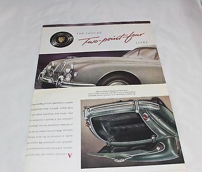 1956 Jaguar 2.4 Litre Sales Brochure Advertisement