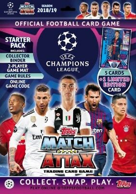 2018 2019 UEFA Champions League Match Attax Starter Pack + Limited Edition Card
