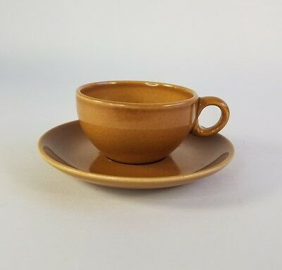 Russel Wright Iroquois Casual China Ripe Apricot Coffee Tea Cup & Saucer MCM