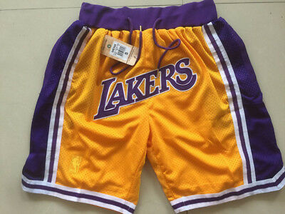 New Adult Size Yellow Color LA Lakers Shorts