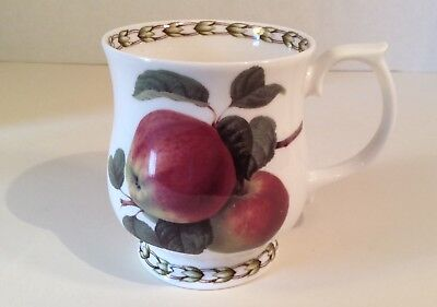 """""""APPLE""""-Rosina-Queen's Collection HOOKERS FRUIT Footed Mug 3 5/8"""", England EUC"""