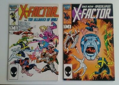 X-Factor 5 and 6, 2 issue lot  Fine condition 1st App of Apocalypse