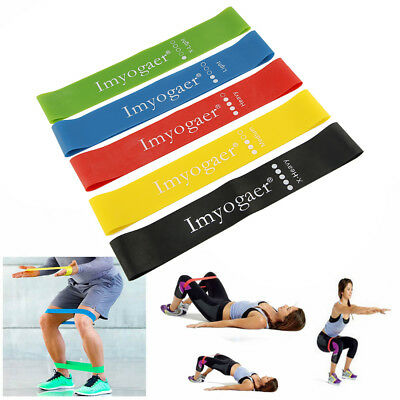 Fashion Elastic Resistance Loop Bands Yoga Exercise Gym Fitness Workout Stretch