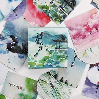 40pcs/lot Chinese Style Stickers Vintage Adhesive Stickers Sticker Decor DIY TOP