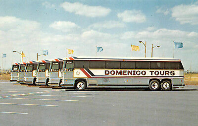 Postcard Domenico Tour Busses Advertising Bayonne New Jersey Vintage Unused A12