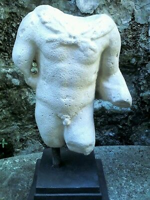 Antique Italian sculpture, torso of Hercules, after the Roman. Library piece.