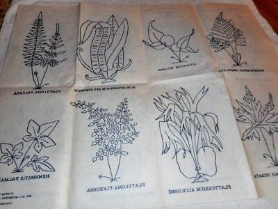 Vintage Embroidery Iron on Transfer - Herbs