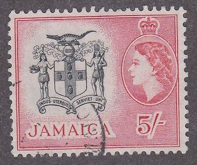 Jamaica, 1956, 5/- black and red,  SG172, Sc172, used.