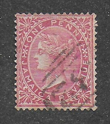 Jamaica, 1873, 1d red, postal fiscal,  SG F3, postally used.