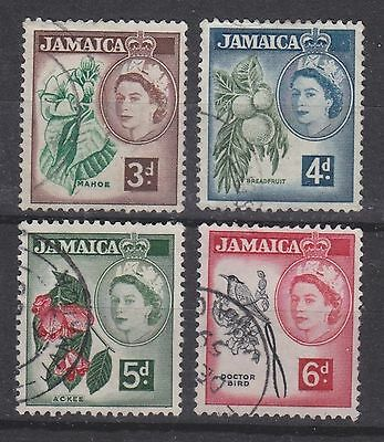 Jamaica, 1956, selection,  SG163-166, Sc163-166, used.
