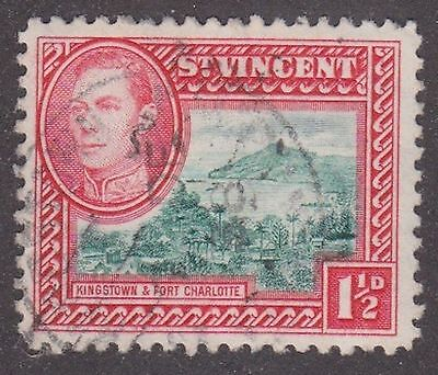 St Vincent, 1938, 1.5d green and red, SG151, Sc143, used.