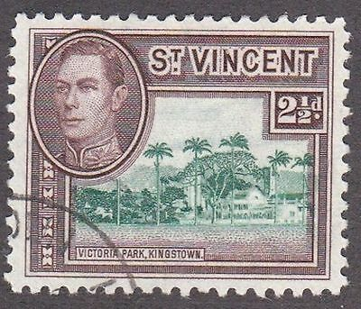 St Vincent, 1947, 2.5d brown and green, SG153a, Sc145A, used.