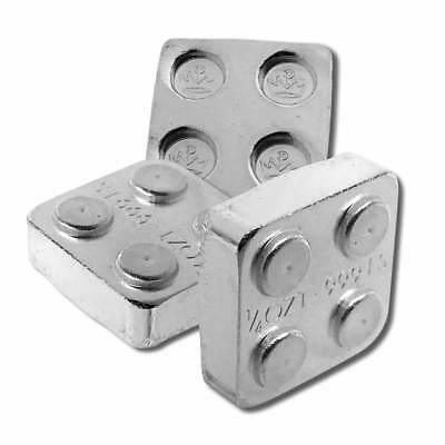 8 - 1/4 oz. 999 Fine Silver Building Block Bars (2X2) - Connect Blocks Together