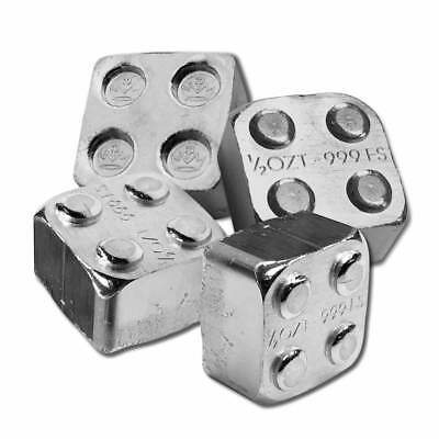 2 - 1/2 oz. 999 Fine Silver Building Block Bars (2X2) - Connect Blocks Together