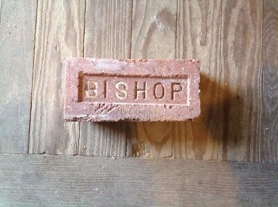 Antique Brick Stamped With The Letter  **** Bishop ****