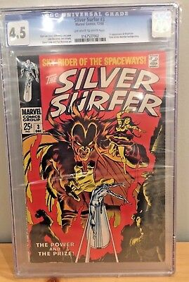 Silver Surfer #3 CGC 4.5 1st app. of Mephisto 12/68 Silver Age Marvel