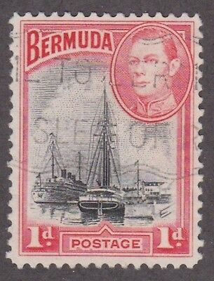 Bermuda, 1938, 1d black and red,  SG110, Sc 118, used.
