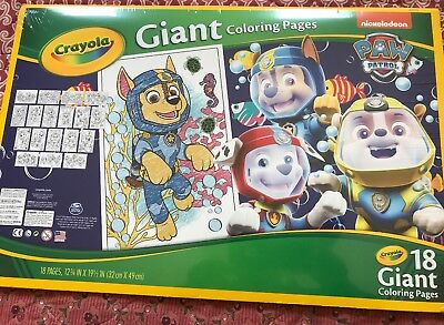 Crayola Paw Patrol Giant Coloring Pages 8 99 Picclick