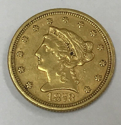 1873-P $2-1/2 Gold Liberty Coin - Purchased From Estate Sale
