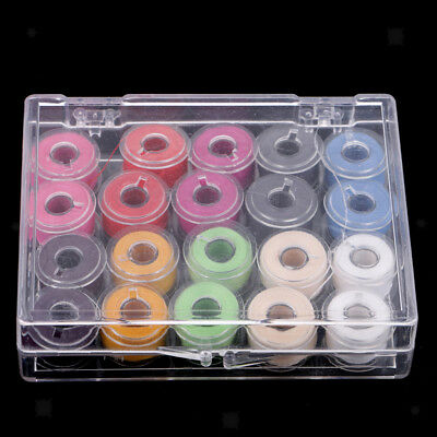 20Pcs Clear Plastic Bobbins Thread Spools for Brother Janome Sewing Machine