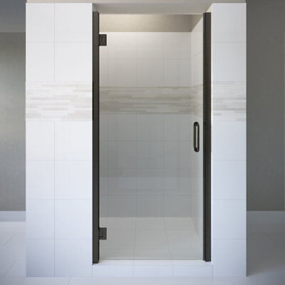 "Basco Coppia 34.56"" X 76"" Hinged Frameless Shower Door Clear Chrome"