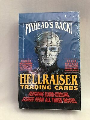 Hellraiser Pinheads Back Trading Cards Factory Sealed Box Clive Barker Autos?