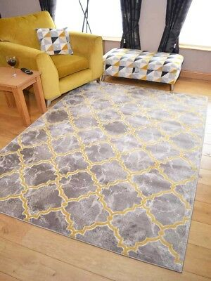 Modern Taupe Brown Gold Mustard Ochre Extra Large Small Floor Carpet Rug Cheap