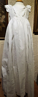 Ayrshire Work Baby Christening Gown/antique