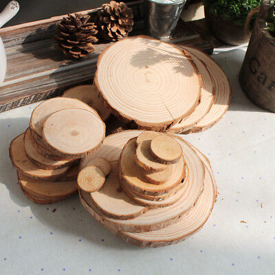 50pcs Natural Pine Tree Wood Slices for Wedding Christmas Home Decor