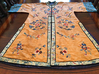 A Chinese Qing Dynasty Embroidered Textile Robe.