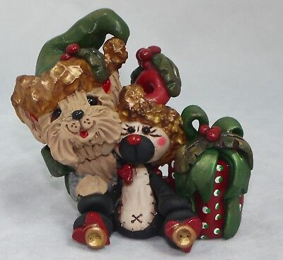 Yorkshire Terrier Yorkie & XMAS Gifts Christmas Dog Figurine Collectibles OOAK