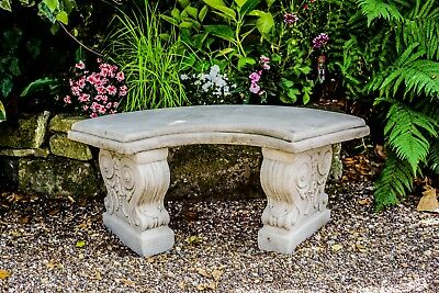 Fine Large Stone Curved Concrete Garden Bench 35 00 Picclick Uk Andrewgaddart Wooden Chair Designs For Living Room Andrewgaddartcom