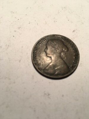1864 Canadian - New Brunswick Large Cent Penny Antique Canadian Coin Currency