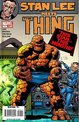 STAN LEE Meets The THING #1 Marvel 2006 Almost MINT BuyIt