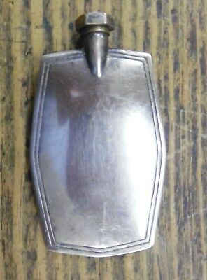 VTG 1930's Art Deco Silver Metal Perfume Flask Vial Holder