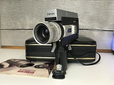 Canon 518 Movie Camera Auto Zoom Super 8 Telephoto Lens Film w/ Case