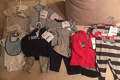 Lot of 16 Size 6-9 Mo Boys Clothing Carter's First Impressions