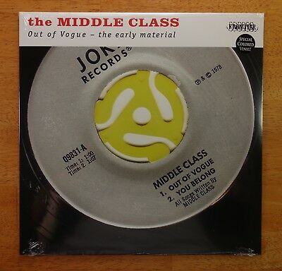 "SEALED The MIDDLE CLASS ""Out Of Vogue - Early Material"" COLORED LP NEW MINT 2008"