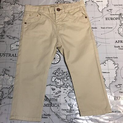 Zara Baby Boys Chino Trouses Beige Age 12-18 Months