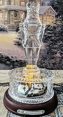 Thomas Kinkade Victorian Christmas Crystal Nutcracker By Bradford Exchange