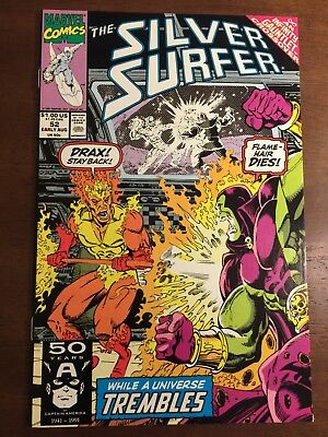 Silver Surfer 52 Infinity Gauntlet Crossover Comic Book Marvel Comics Drax Cover