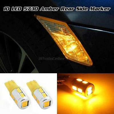 2825 194 168 Amber 5730-SMD High Power Turn Signal Rear Side Marker Lights x2