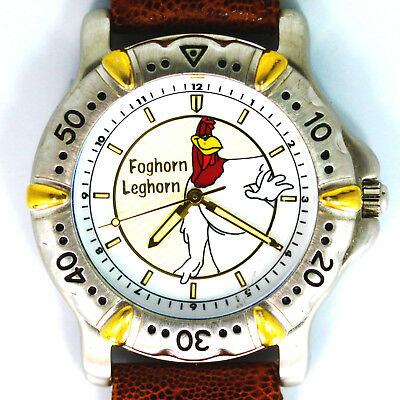 Foghorn Leghorn, Vintage New Unworn Fossil Warner Bros. Looney Tunes Watch! $129