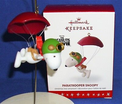 Hallmark Peanuts Ornament Paratrooper Snoopy 2016 Flying Ace Parachute NIB