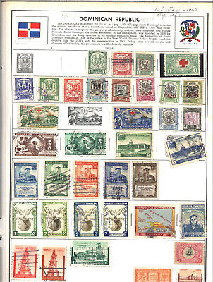 DOMINICA DOMINICAN REPUBLIC 1901-1993 Lot of 138 Stamps on Harris Album Pages